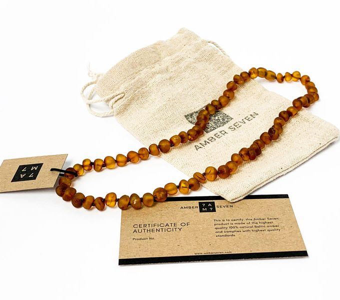raw amber brown necklace