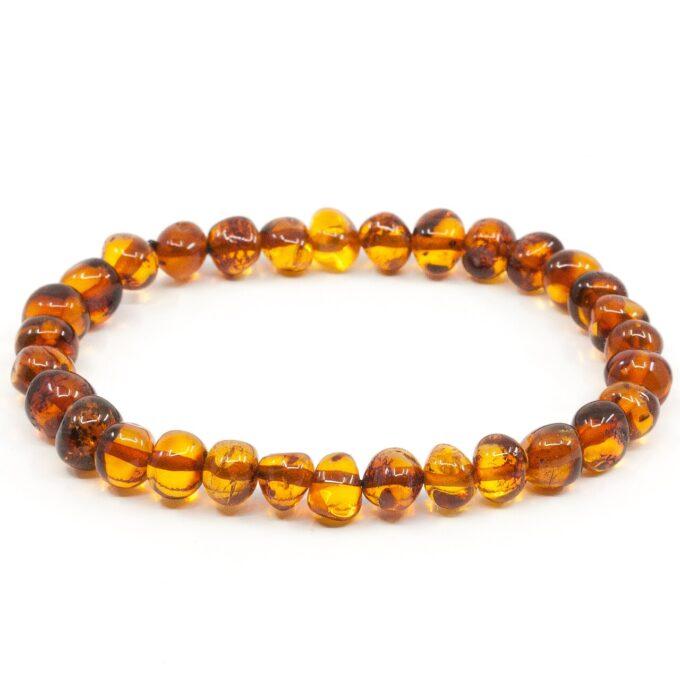 polished cognac amber bracelet