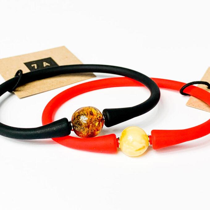 amber sphere bracelet